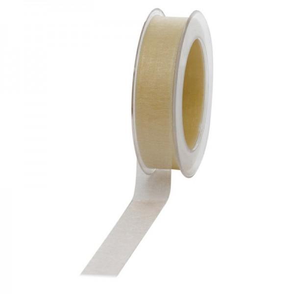 Geschenkband Chiffon 25mm/50Meter creme