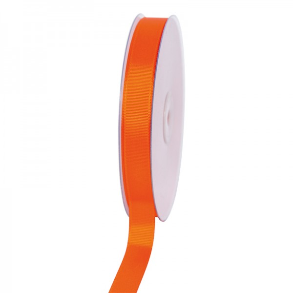Geschenkband Grosgrain 16 mm/50Meter orange