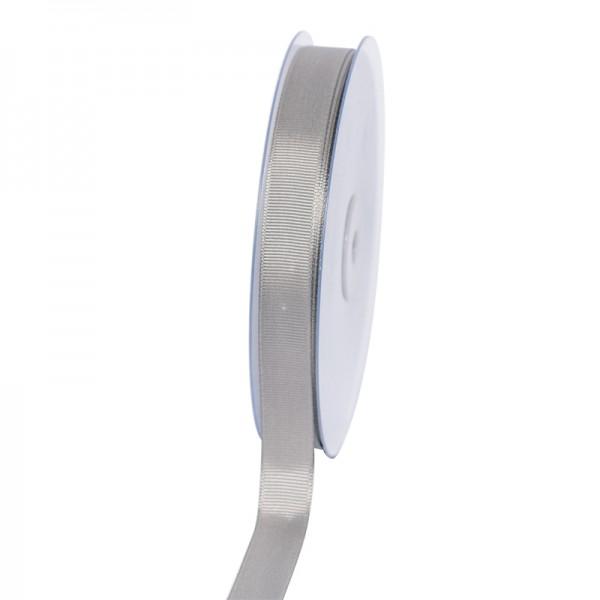 Geschenkband Grosgrain 16 mm/50Meter silber
