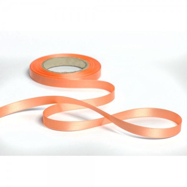 Geschenkband mit Druck 10mm breit 100 Meter lachs
