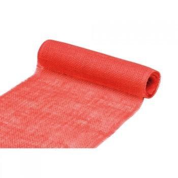 Tischläufer Jute 30cm 3Meter rot