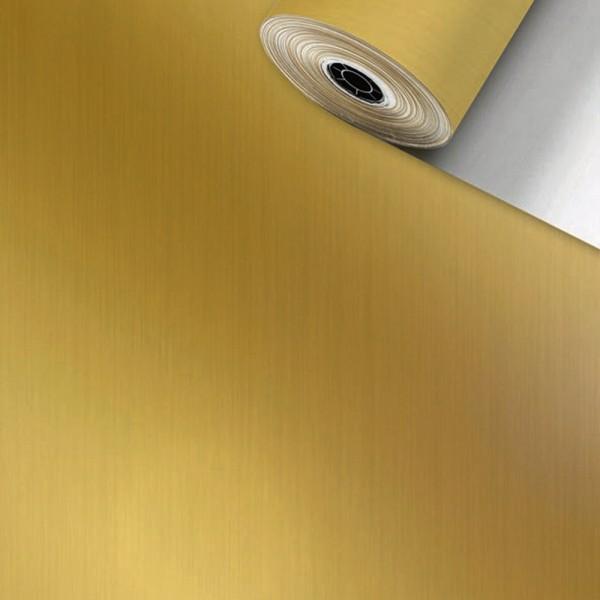 Geschenkpapier Rolle 50cm 250Meter uni streifen gold
