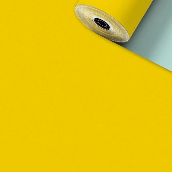 Geschenkpapier Rolle 70cm 200Meter Uni matt gelb
