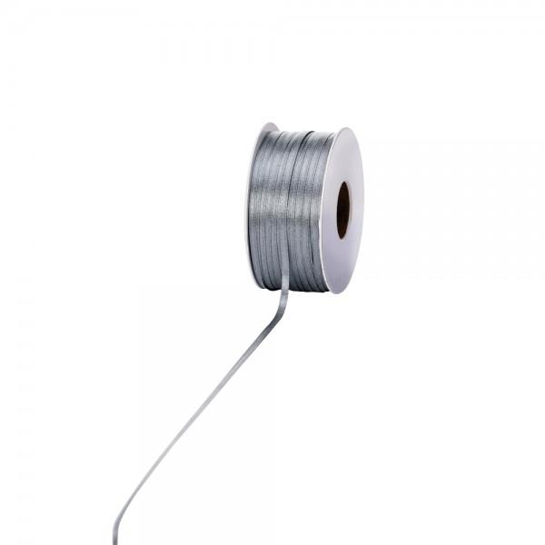 Satinband 3mm 100Meter silber