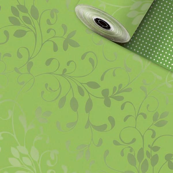 Geschenkpapier Rolle 70cm 250Meter Miron kiwi