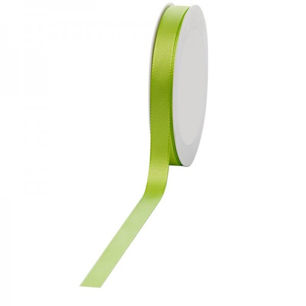 Geschenkband Stoff 15mm / 50Meter hellgrün