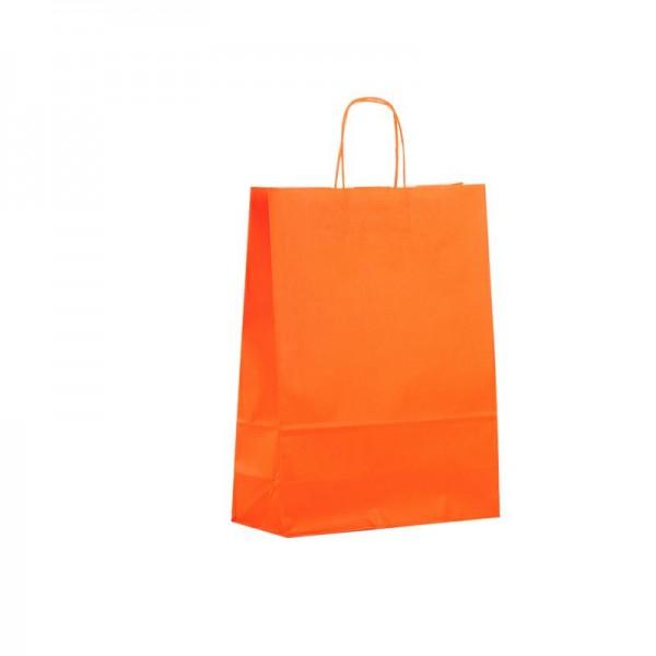 Papier Tragetaschen 32x13x42cm orange
