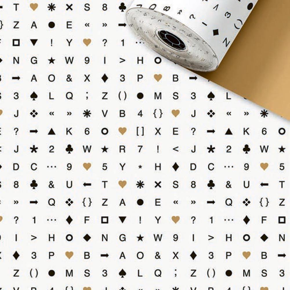 Geschenkpapier Rolle 50 Meter x 50cm Eighties