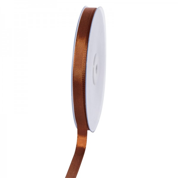 Geschenkband Grosgrain 9 mm/50Meter braun