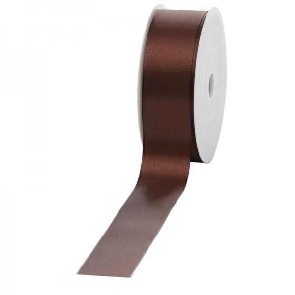 Geschenkband Stoff 40mm / 50Meter braun