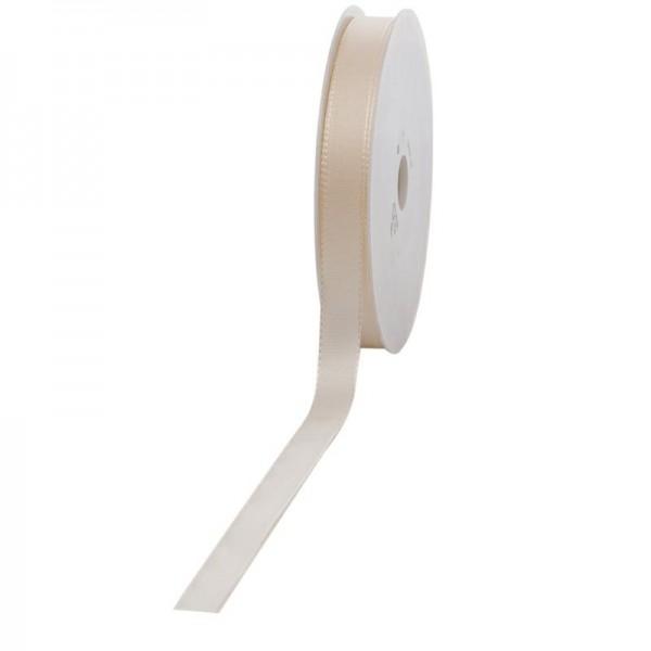 Geschenkband Stoff 15mm / 50Meter creme
