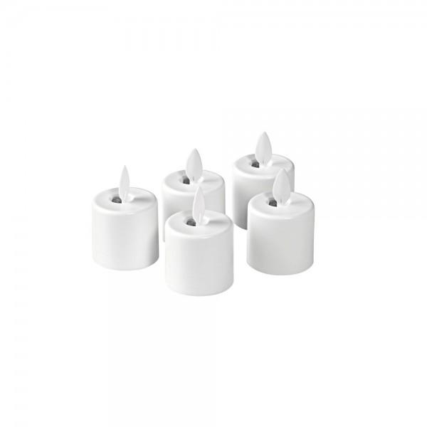 DUNI Ersatz LED Moving Flame Warm White 5 Stück