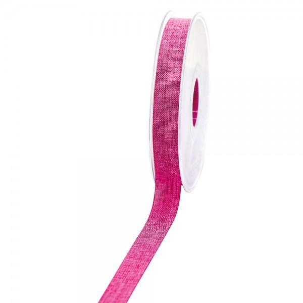 Geschenkband Leinenoptik 15mm 20Meter Pink