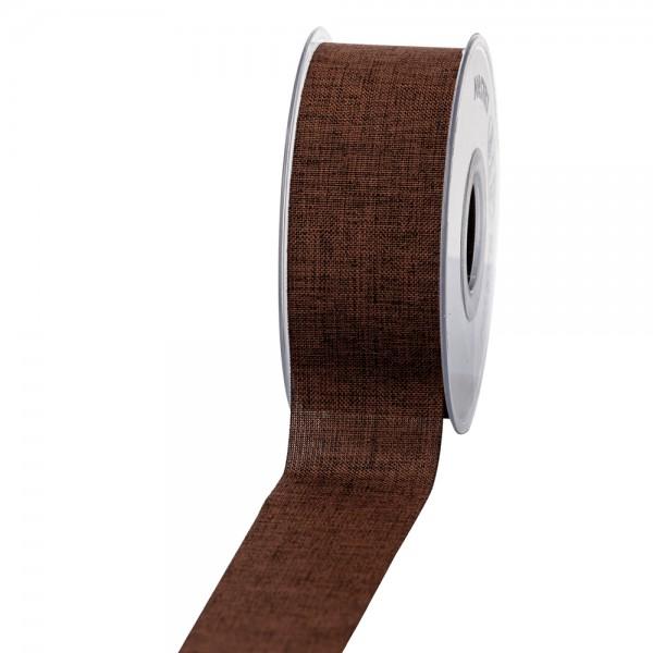 Geschenkband Leinenoptik 40mm 20Meter Braun