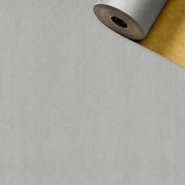 Geschenkpapier Rolle 50cm 50Meter 2-seitig silber/gold