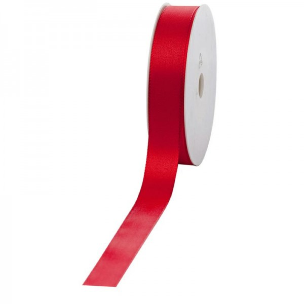 Geschenkband Stoff 25mm / 50Meter rot