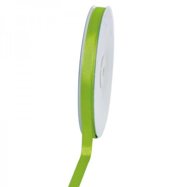 Geschenkband Grosgrain 9 mm/50Meter apfelgrün