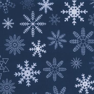 Geschenkpapier Rolle 50cm 50m blau mit Kristallen