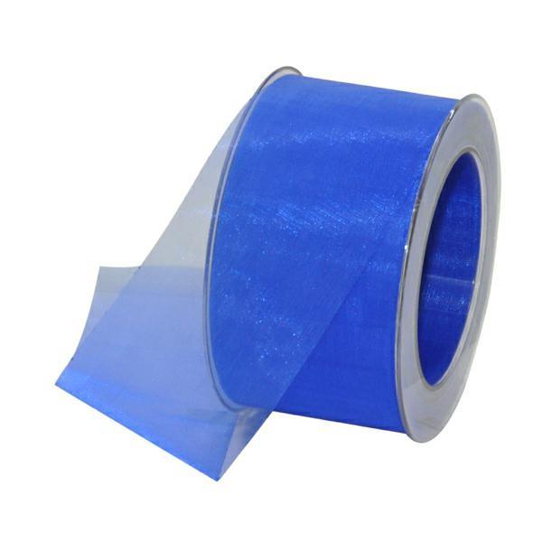 Geschenkband Chiffon 60mm/50Meter royalblau