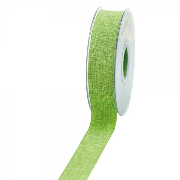 Geschenkband Leinenoptik 25mm 20Meter Kiwi