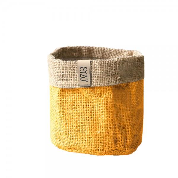 Jutebag Ø 20 cm Höhe ca.20 cm Gelb