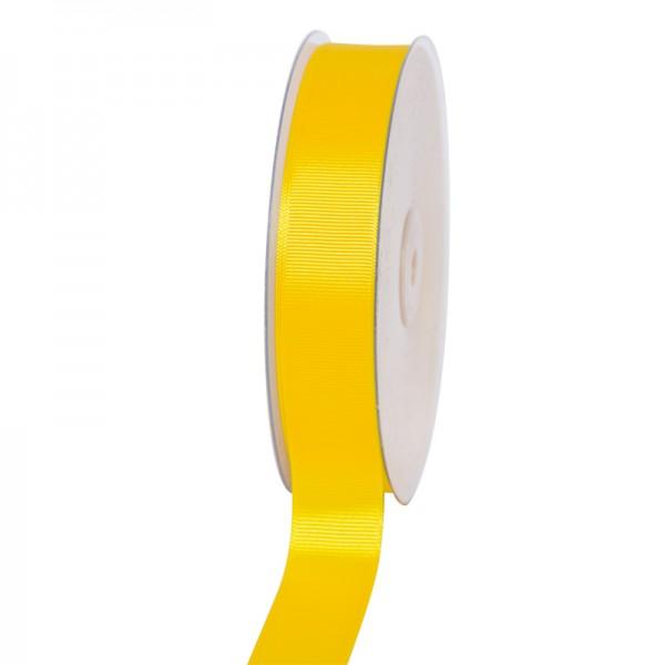 Geschenkband Grosgrain 25 mm/50Meter gelb