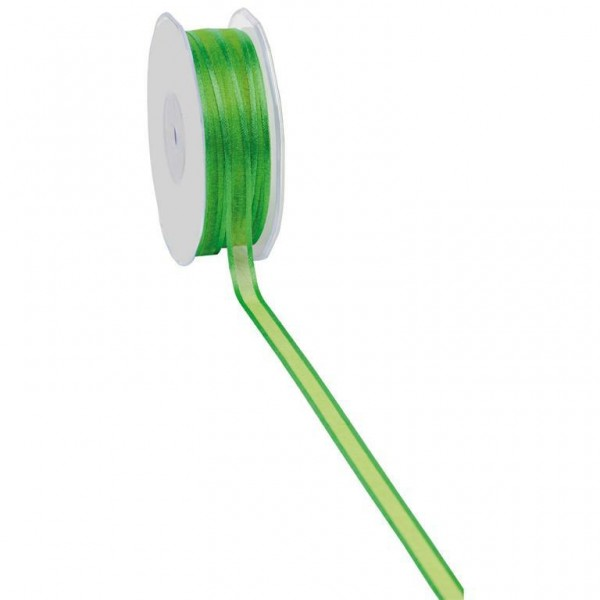 Geschenkband Chiffon Stripes 10mm/50Meter apfelgrün