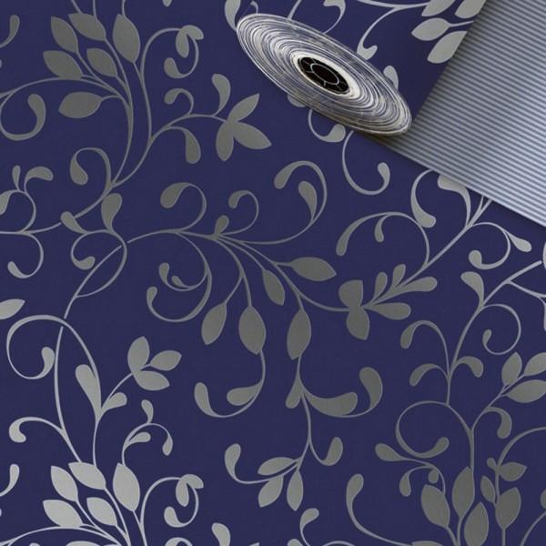Geschenkpapier Rolle 70cm 250Meter Miron dunkelblau