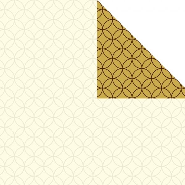 Geschenkpapier Rolle 50cm 250m Circles creme Perlmutt