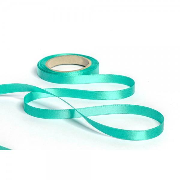 Geschenkband mit Druck 10mm breit 100 Meter türkis
