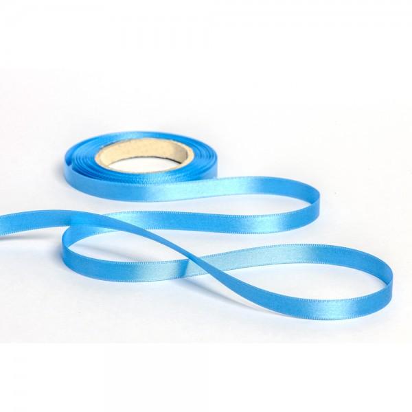 Geschenkband mit Druck 15mm breit 100 Meter hellblau