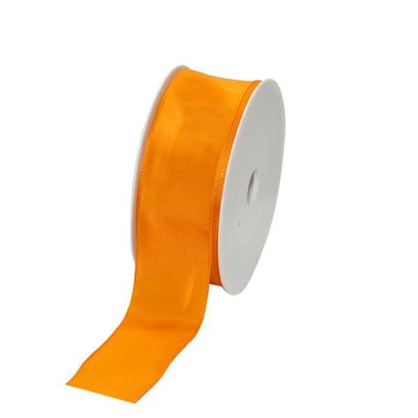 Geschenkband Stoff m. Draht 40mm/25Meter orange