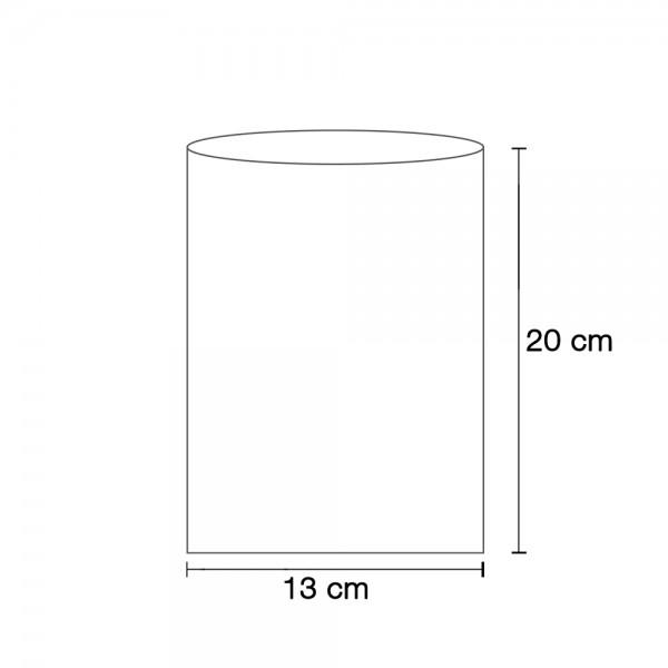 Flachbeutel weiß 13x20 cm