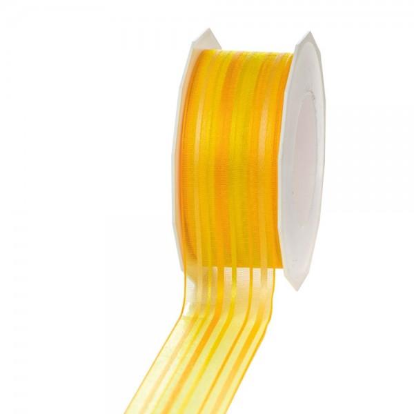 Geschenkband Malediven 40mm/20Meter gelb