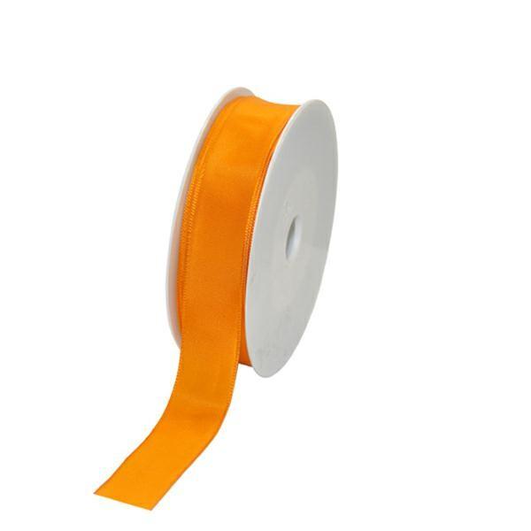 Geschenkband Stoff m. Draht 25mm/25Meter orange