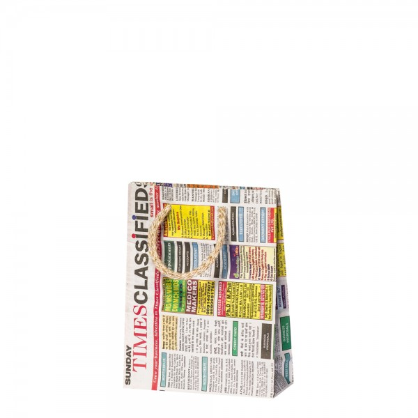 Papier Tragetaschen 14x5x18cm Newspaper