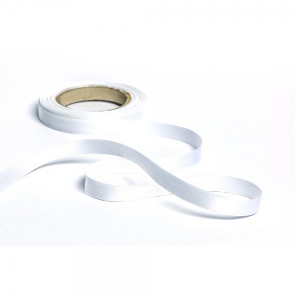 Geschenkband mit Druck 10mm breit 100 Meter weiß
