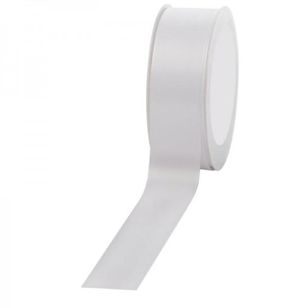 Geschenkband Stoff 40mm / 50Meter weiß