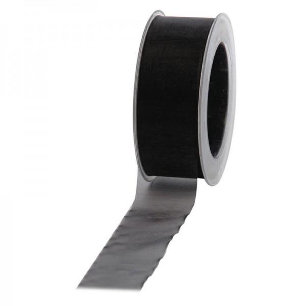 Geschenkband Chiffon 40mm/50Meter schwarz