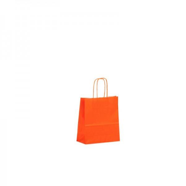 Papier Tragetaschen 18x08x25cm orange