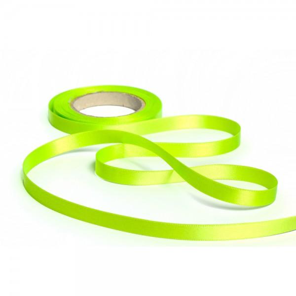 Geschenkband mit Druck 10mm breit 100 Meter limone