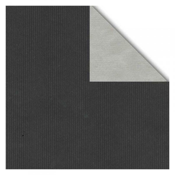 Geschenkpapier-Rolle 30cm 250 Meter schwarz/silber