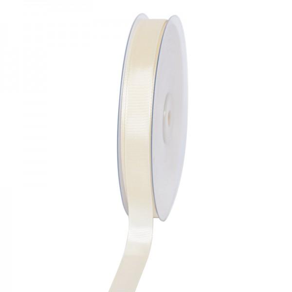 Geschenkband Grosgrain 16 mm/50Meter creme