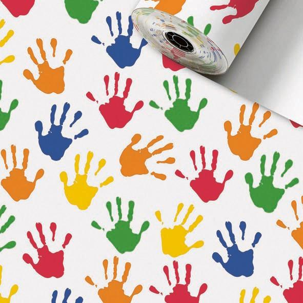 Geschenkpapier Rolle 50cm 250Meter Hands