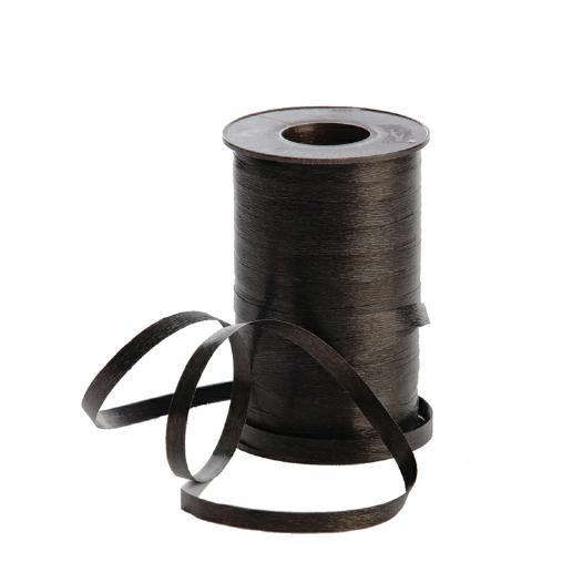 Polyband matt 7,5mm 180Meter schwarz