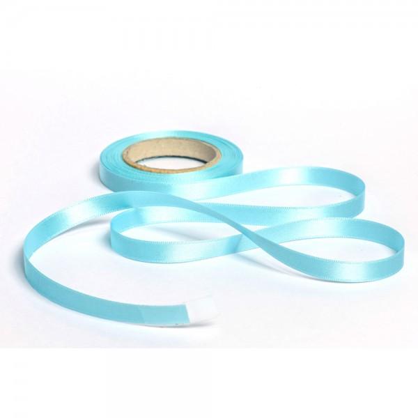 Geschenkband mit Druck 10mm breit 100 Meter aqua