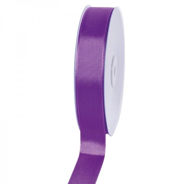 Geschenkband Grosgrain 25 mm/50Meter lila