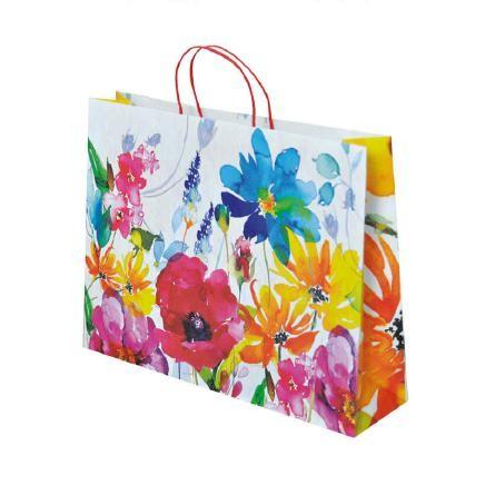 "Papier Tragetaschen ""Floral"" 38x10x29,2cm"