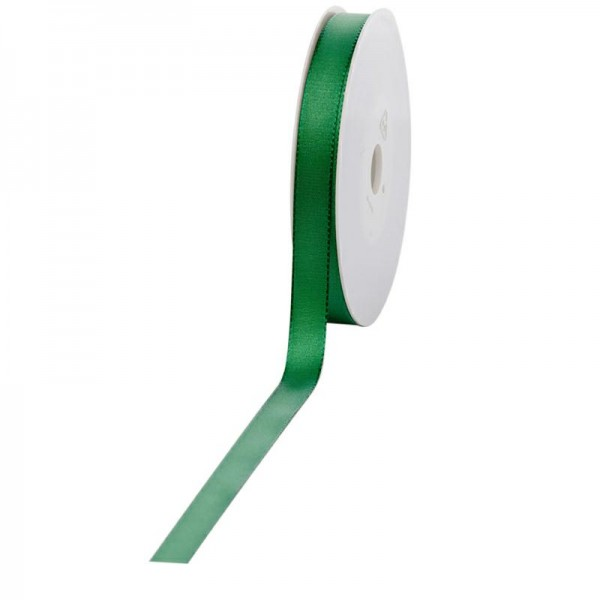 Geschenkband Stoff 15mm / 50Meter grün