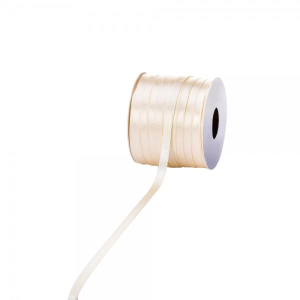 Satinband 6mm 100Meter vanille